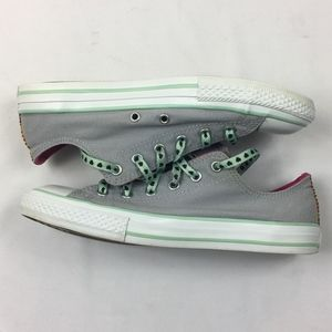 Converse Gray White Low Top Sneakers Junior Size 5